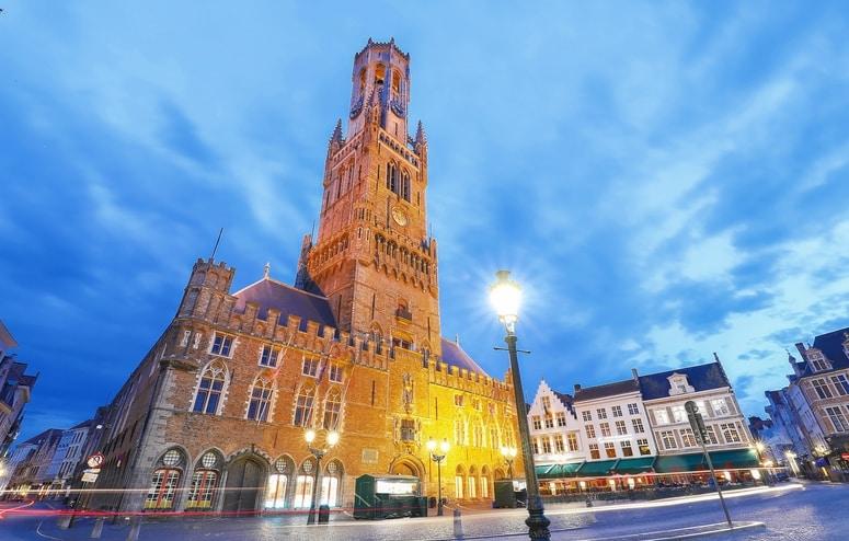 Belfort van Brugge vlakbij de Grote Markt