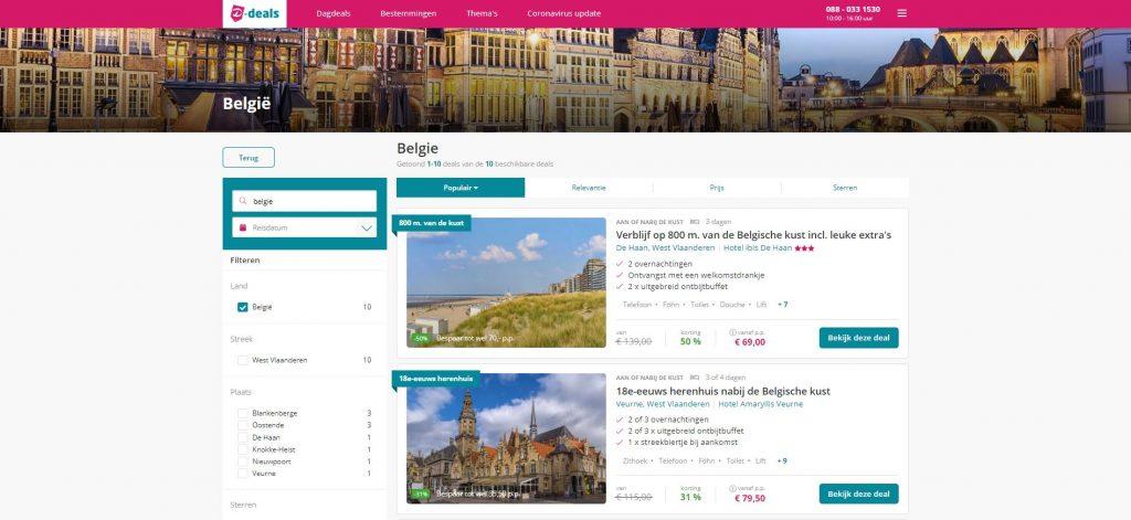 D-Deals: goedkope weekendjes weg aan de Belgische kust
