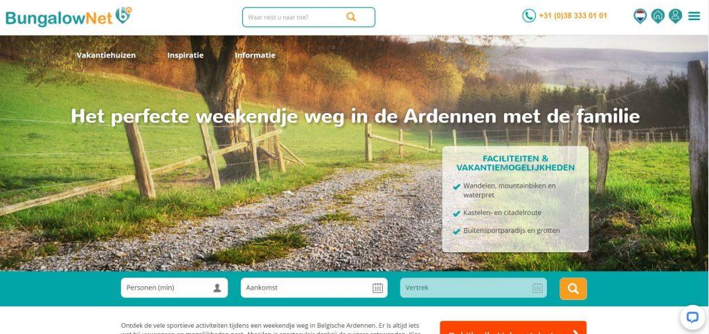 Bungalow.net: uitgebreid aanbod vakantiehuizen in Ardense gemeenten