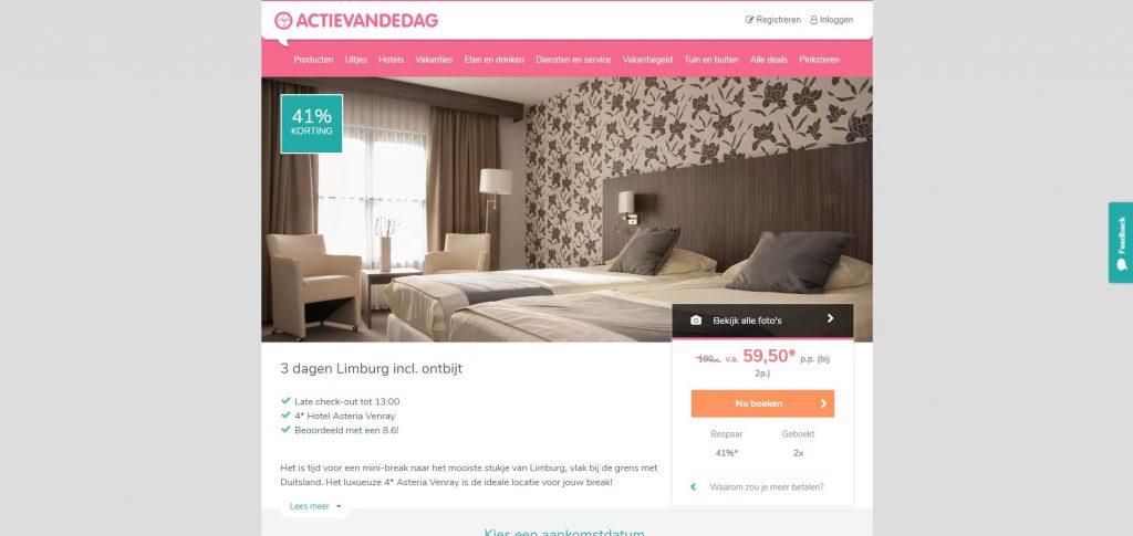 ActievandeDag: goedkope hotelarrangementen in Limburg