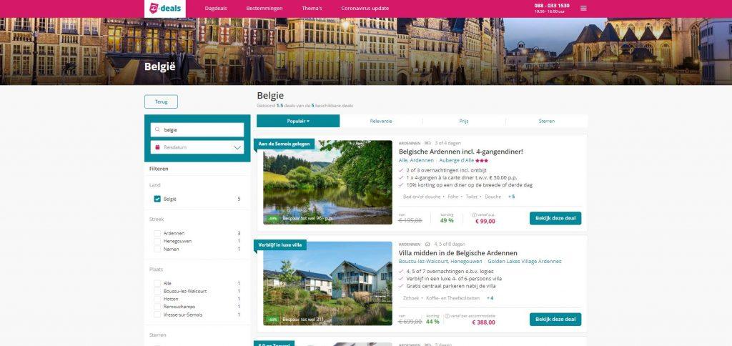Goedkope hotelarrangementen via D-deals