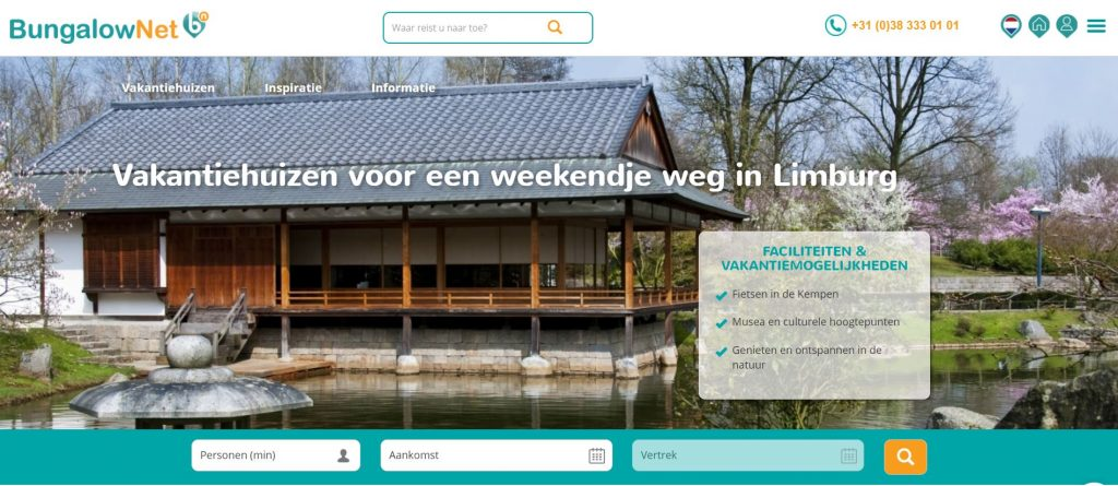 Bungalow.net: goedkope vakantiehuizen in Limburg