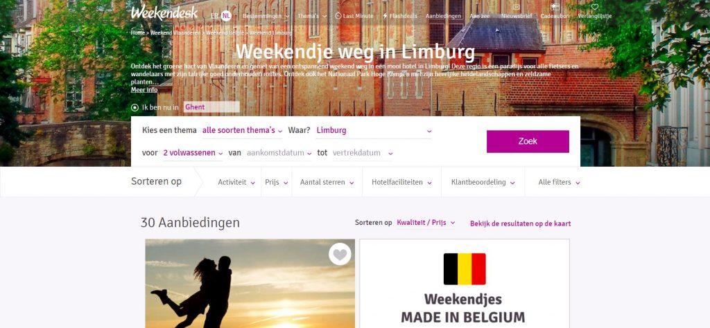 Weekendesk: de specialist in goedkope weekendjes weg in Limburg
