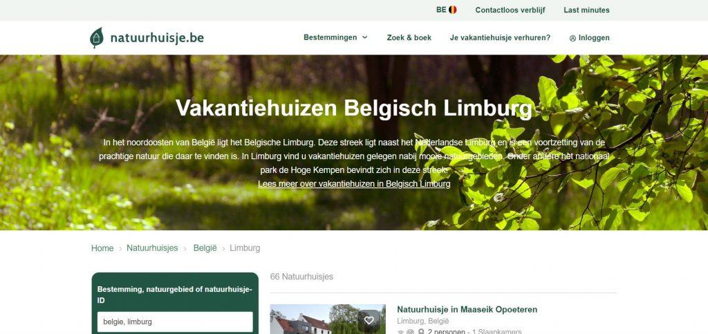 Natuurhuisje.nl: ruim aanbod vakantiewoningen in provincie Limburg
