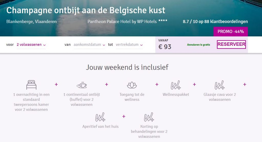Luxueus weekendje weg in Blankenberge via Weekendesk