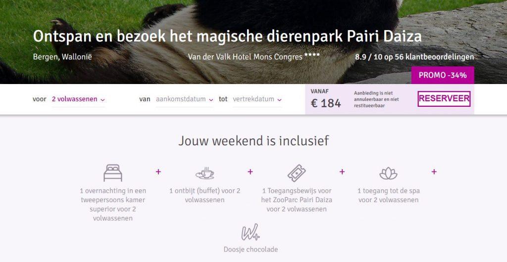 Weekendje weg naar Pairi Daize via Weekendesk