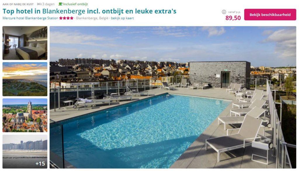 Weekendje weg in Blankenberge via Traveldeal
